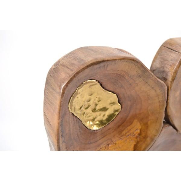Teaková nástenná dekorácia Moycor Erosi
