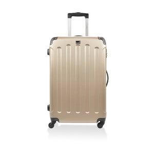 Zlatý cestovný kufor na kolieskach Blue Star Madrid, 60 l