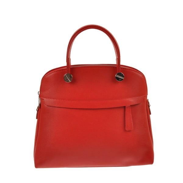 Červená kožená kabelka Florence Bags Yutz