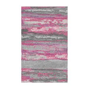Sivo-ružový koberec Kate Louise Vintage, 80 x 150 cm