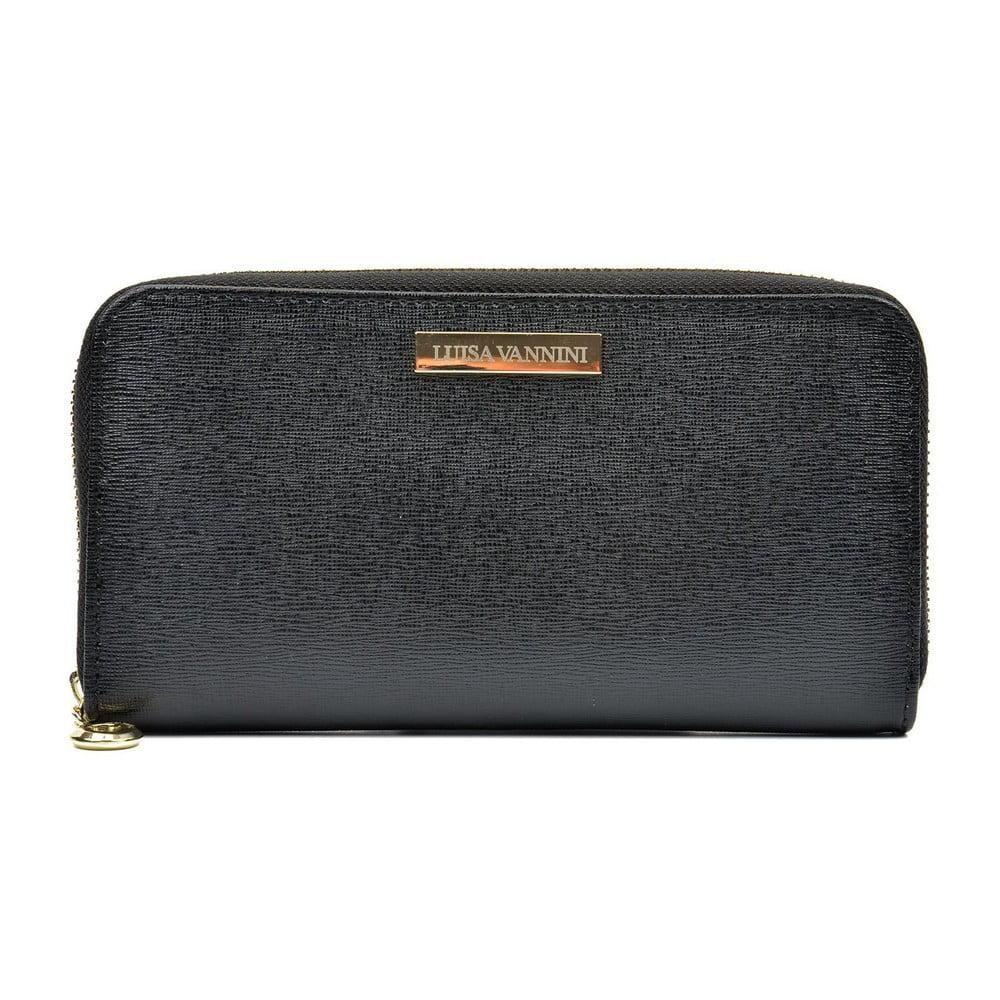 Čierna dámska kožená peňaženka Luisa Vannini Grunto