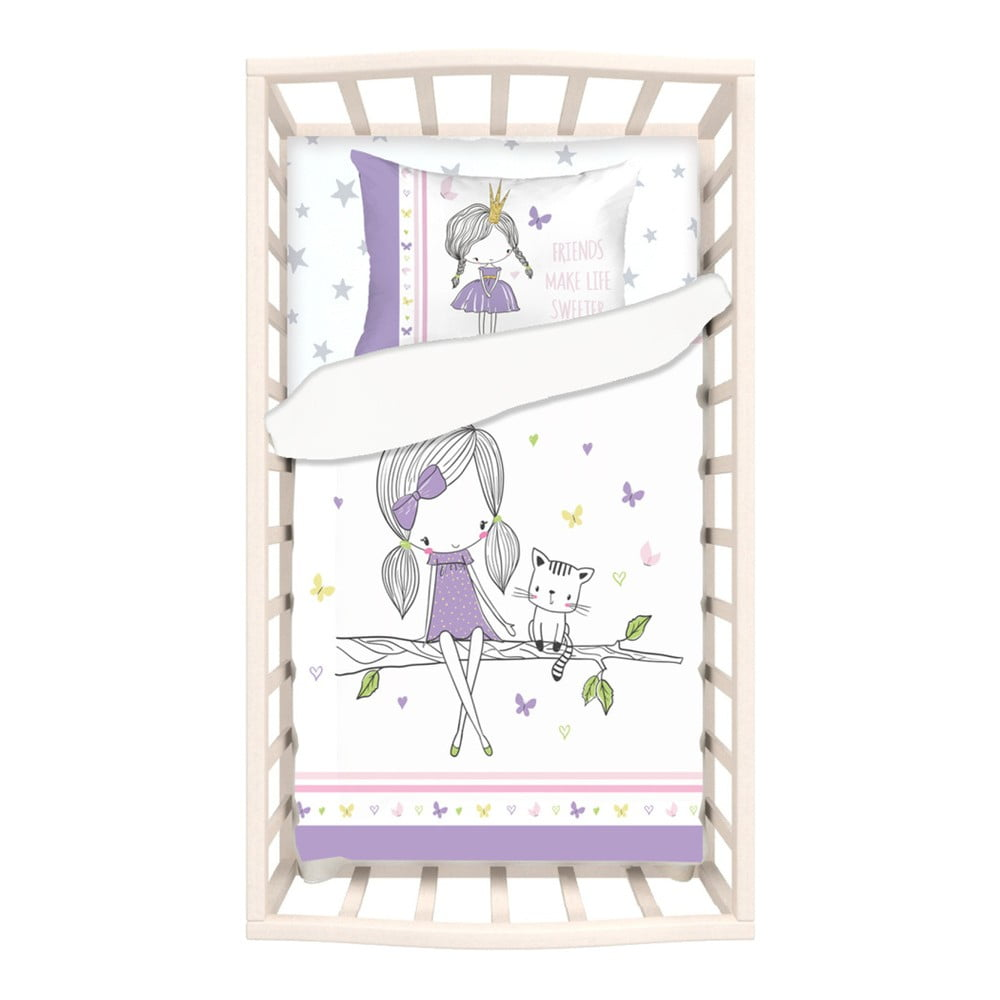 Detské bavlnené obliečky s plachtou na jednolôžko Apolena Mirra Celso, 100 x 150 cm