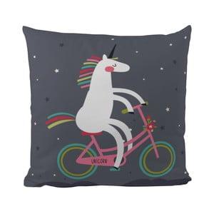 Vankúš Butter Kings Unicorn With A Bike, 50 x 50 cm