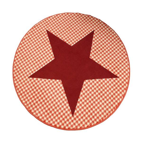 Koberec City & Mix - červená hviezda, 140 cm