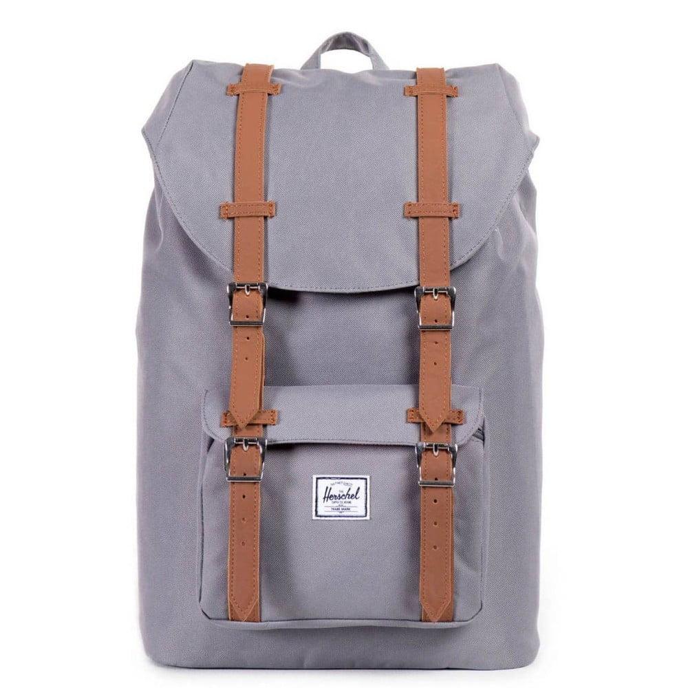 Sivý batoh Herschel Little America, 19,5 l