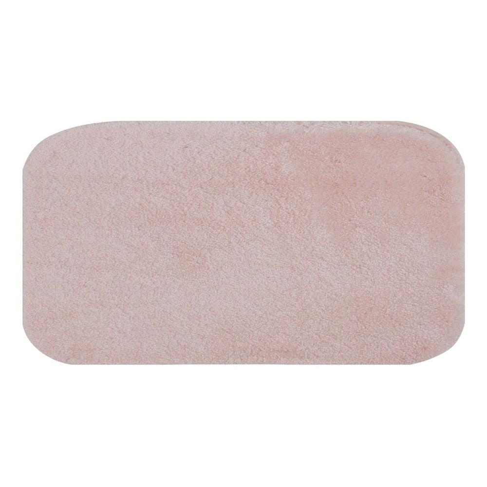 Ružová predložka do kúpeľne Confetti Miami, 67 × 120 cm