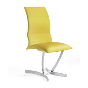 Žltá jedálenská stolička Ángel Cerdá Hugo