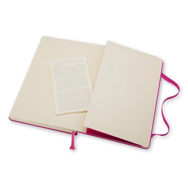 Veľký ružový zápisník Moleskine Hard, štvorčekovaný