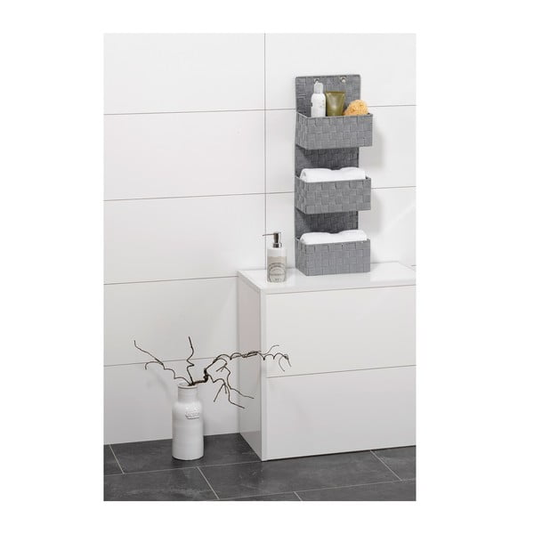 Sivý trojitý kúpeľňový organizér Wenko Adria