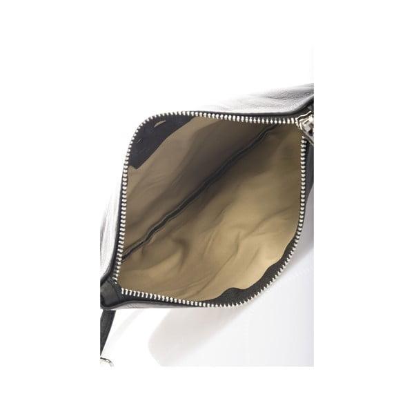 Kožená kabelka Krole Kody, čierna