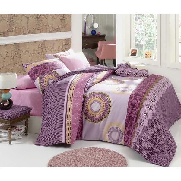 Sada obliečok a plachty Violet Circle, 200x220 cm