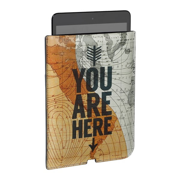 Obal na mini tablet CartographyYou Are Here