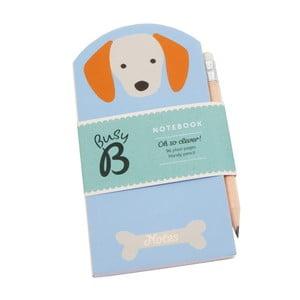 Mini zápisník Busy B Dog s ceruzkou
