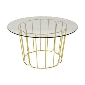 Jedálenský stôl s nohami v zlatej farbe RGE Carrie, ⌀ 85 cm