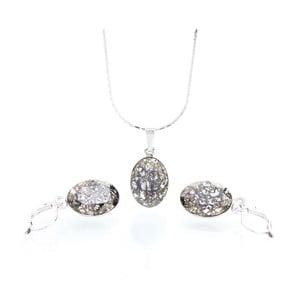 Set náhrdelníka a náušníc so Swarovski krištáľmi Yasmine Oval