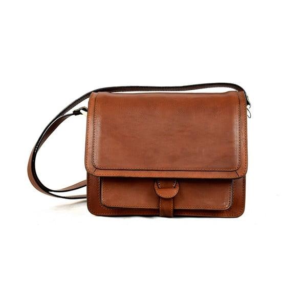 Kožená taška Santo Croce 132089 Brown
