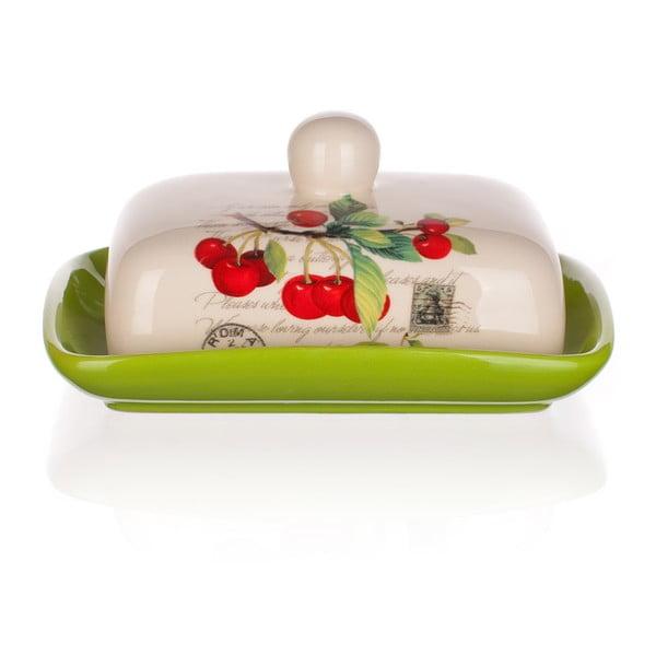Keramická nádoba na maslo Banquet Cherry, 17,5 cm