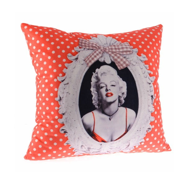 Vankúš InArt Orange Marilyn, 45x45 cm
