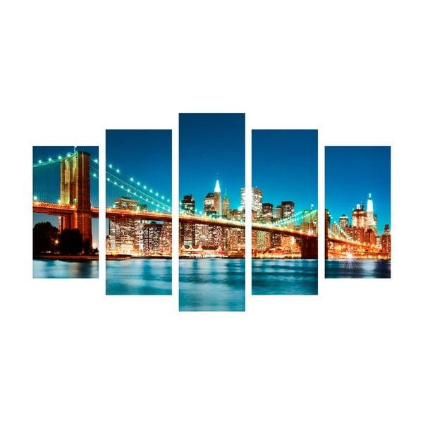 5-dielny obraz Bridge Tales, 60x100 cm