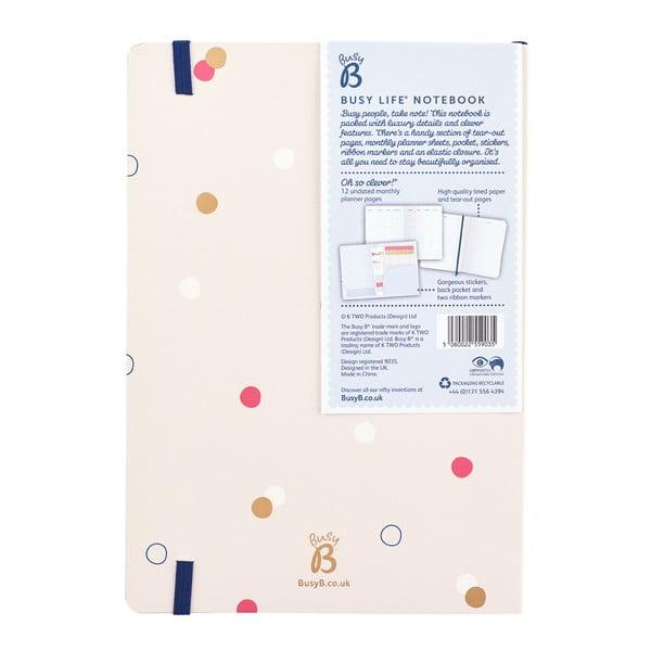 Bodkovaný zápisník o formáte A5 Busy B, 96 strán