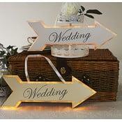 Svadobná dekorácia s LED svetielkami Wedding Arrow