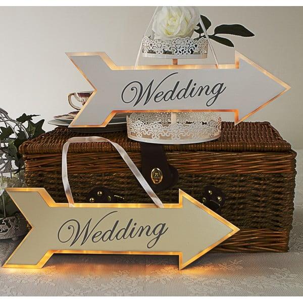 Svadobná dekorácia s LED svetielkami Arrow