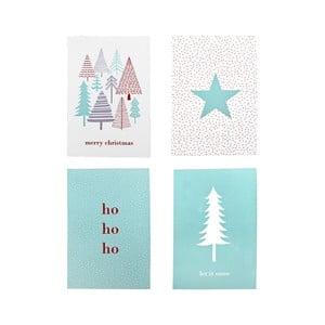 Sada 4 papierových vianočných prianí Bloomingville Christmas