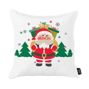 Biela vianočná obliečka na vankúš Apolena Honey Christmas Santa Claus Gifts, 45 x 45 cm