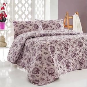 Sada prešívanej prikrývky na posteľ a dvoch vankúšov Double 436, 200x220 cm