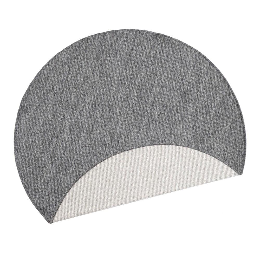 Sivý vonkajší koberec Bougari Miami, ø 140 cm