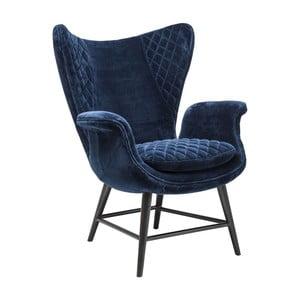 Modré kreslo Kare Design Velvet