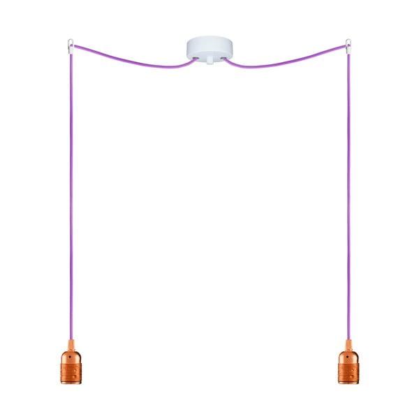 Dva závesné káble Uno, medená/fialová