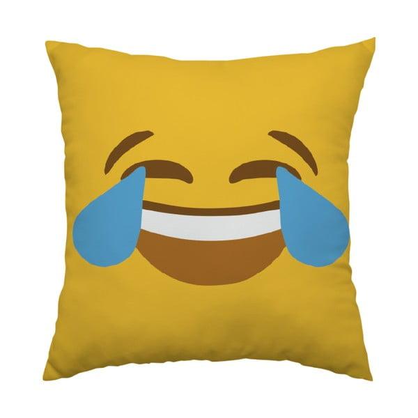 Vankúš Emoji Cry, 40x40 cm
