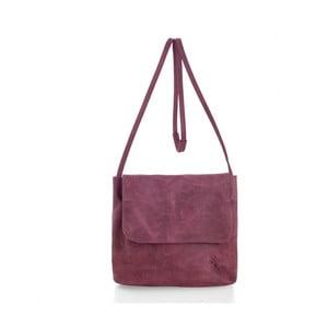 Ružová kožená kabelka cez rameno Woox Costa