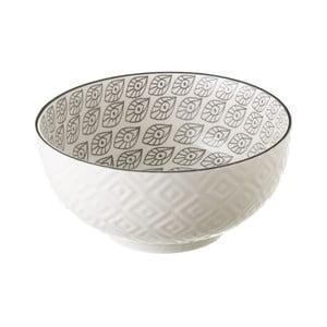 Sivo-biela porcelánová miska Unimasa Mandy, priemer 14,9 cm