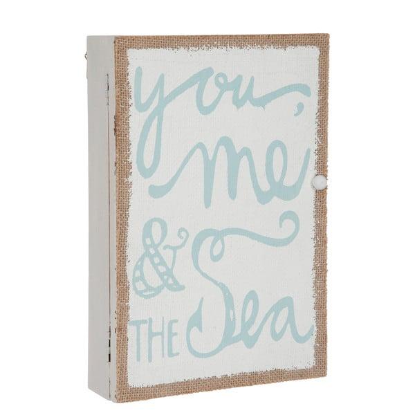 Nástenná skrinka na kľúče You Sea, 30x20x6 cm