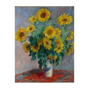 Obraz Claude Monet - Bouquet of Sunflowers , 50x40 cm