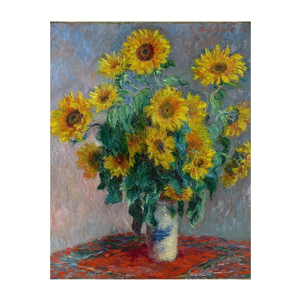 Obraz Claude Monet - Bouquet of Sunflowers , 70x55 cm