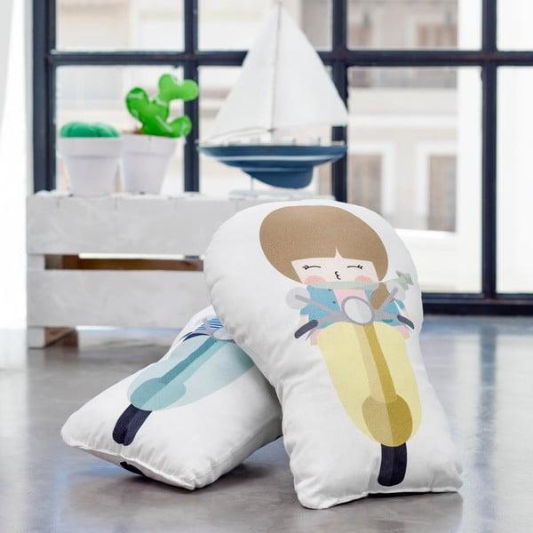 Vankúšik z čistej bavlny Happynois Biker Boy, 40×30 cm