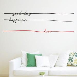 Dekoratívna  samolepka Letters Lines, 35x110 cm