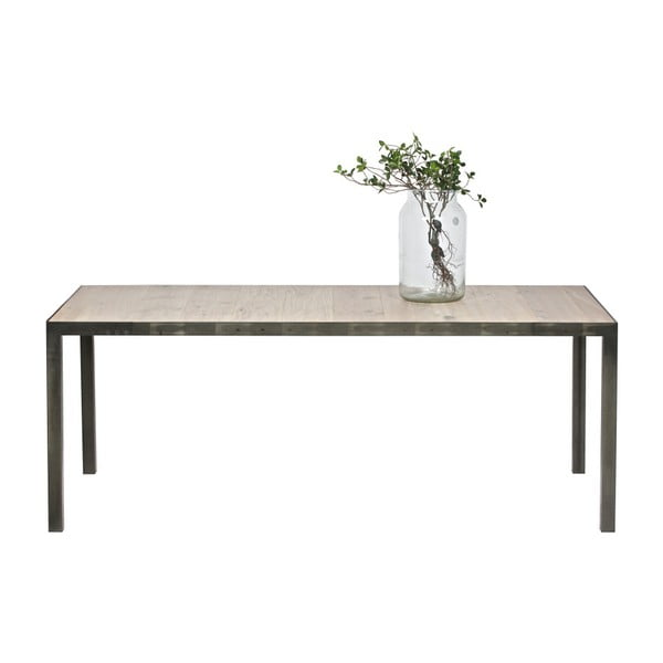 Jedálenský stôl z dubového dreva De Eekhoorn Station, 90×216cm