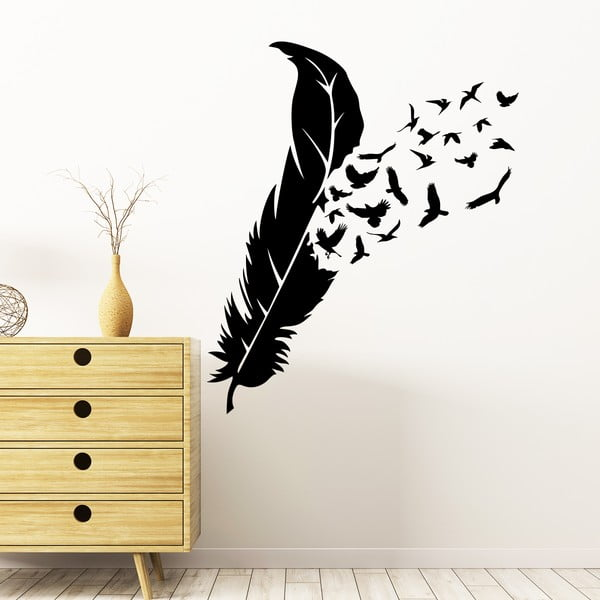 Samolepka Ambiance Feather Birds