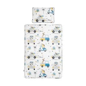 Set detskej bavlnenej prikrývky s vankúšom BELLAMY Jackie, 100×135 cm