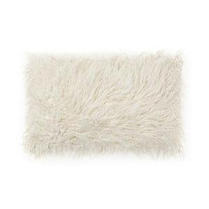 Biely vankúš z umelej kožušiny La Forma Brock, 40x60cm