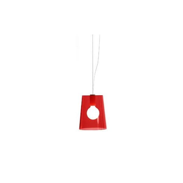 Závesné svietidlo Pedrali L001S/A, červené transparentné