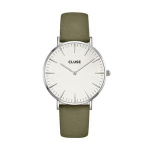 Hodinky Cluse La Bohéme Silver White/Olive Green