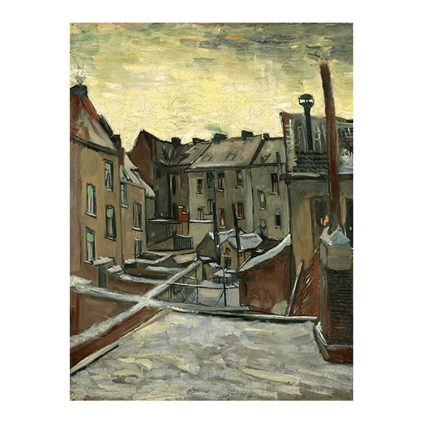 Obraz Vincenta van Gogha - Houses Seen from the Back, 30x40 cm