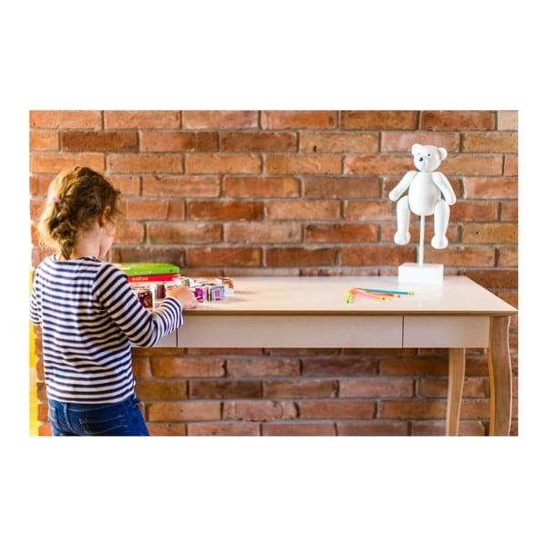 Biely písací stôl Ragaba Lillo,dĺžka105cm