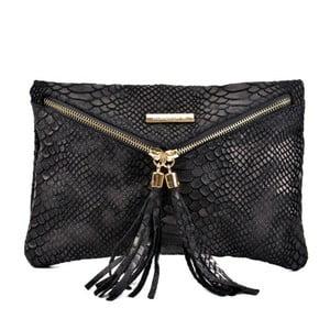 Čierna kožená kabelka Roberta M Gula Nero