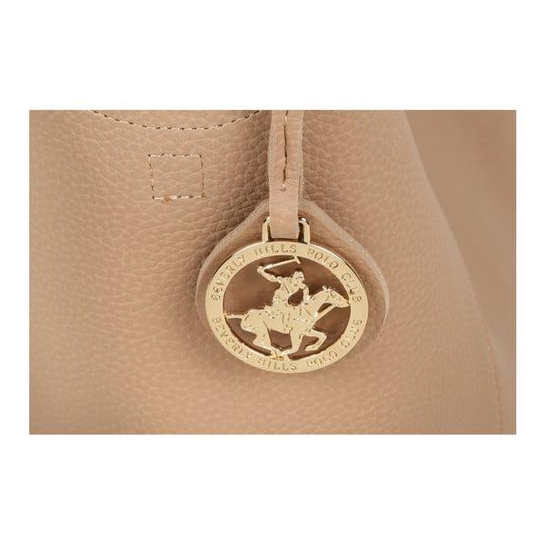 Béžová kabelka z eko kože Beverly Hills Polo Club Rita